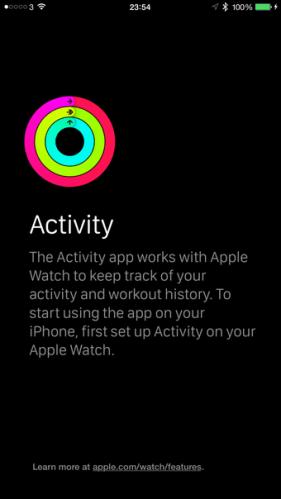 Activity apple watch