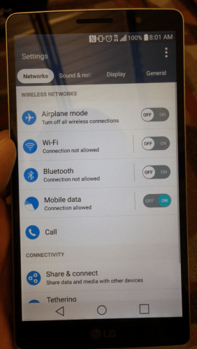 LG connectivity G4