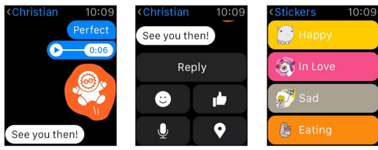 Facebook Messenger ya está disponible para el reloj de Apple