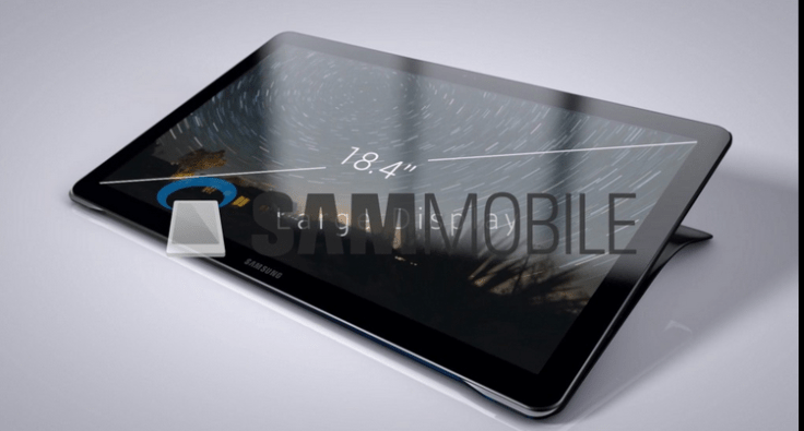 Conoce la nueva tableta Samsung Galaxy de 18,4 pulgadas