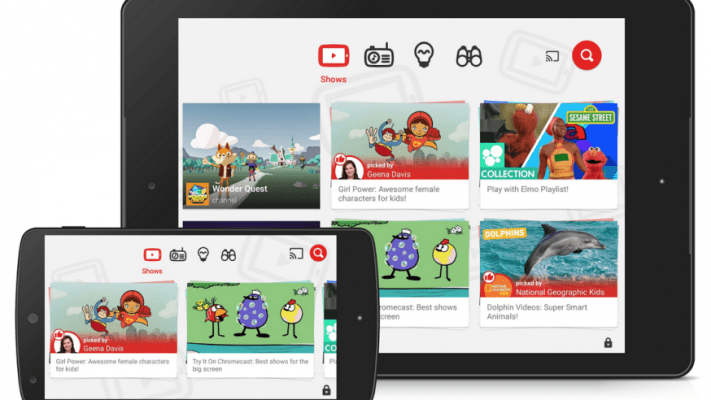 You Tube Kids cada día más popular, ahora tiene nuevas mejoras