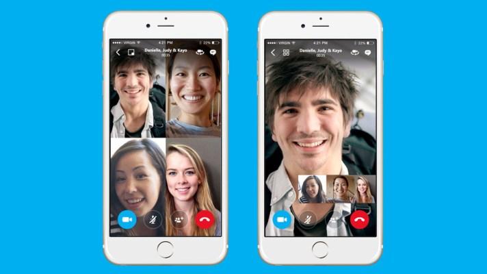 Skype añadirá videos llamadas en grupos a su aplicación móvil