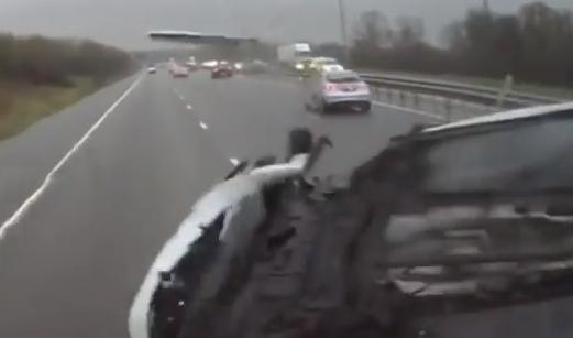 Se hace Viral  accidente en Inglaterra (Video)