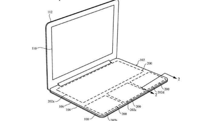 Apple patenta un teclado del MacBook sin teclas