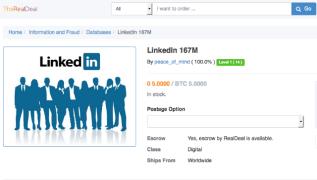 Hacker pone a la venta 117 millones de credenciales de LinkedIn