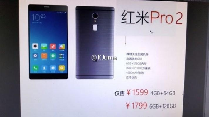 Filtran las especificaciones del Xiaomi Redmi Pro 2