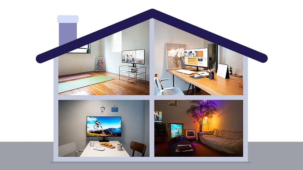 nuevo Smart Monitor de Samsung-casa